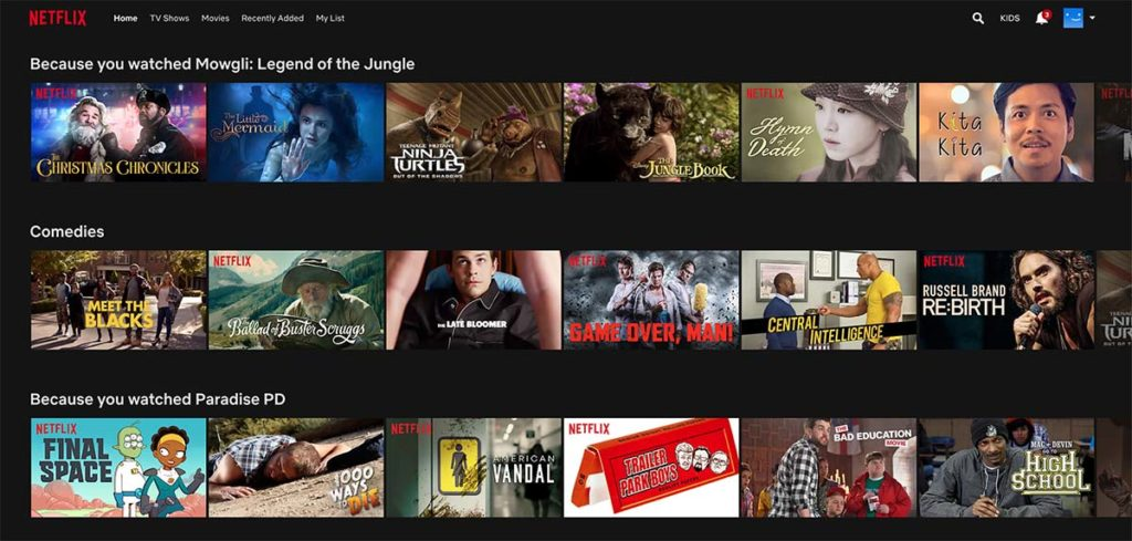 netflix-personalised-recommendations